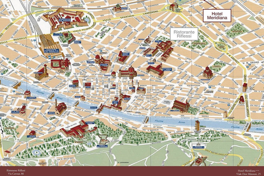 Un'immagine dell'hotel 3 categoria #3stelle #3category  Hotel Meridiana #Firenze #Firenze #Toscana #italy: /1/5/7/6/0/comearrivare_mappaluoghi.jpg